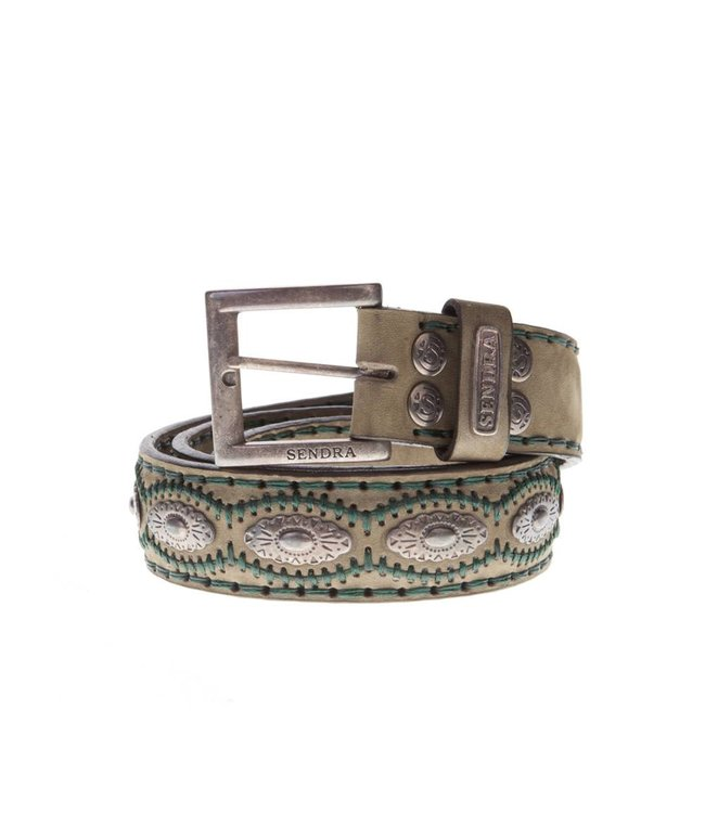 Sendra Sendra Belt 7606 military green leather