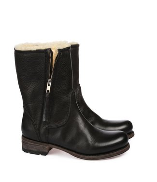 Blackstone Blackstone ladies leather ladies boot medium high zippered