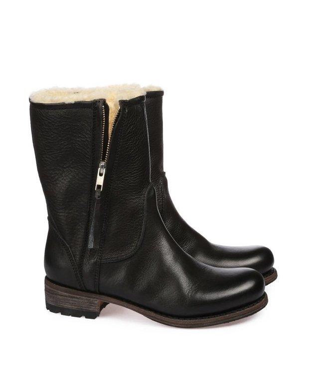 Blackstone Blackstone ladies leather ladies boot medium high zippered