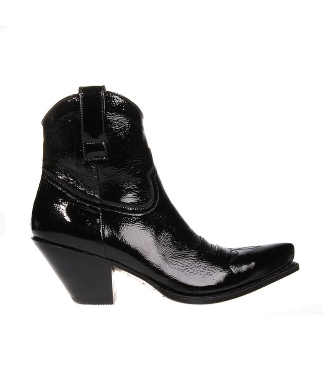 Sendra Sendra ladies boot with heel black leather coat