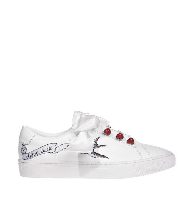 Mi/Mai Paris Mi / Mai Paris ladies white leather ladies sneaker