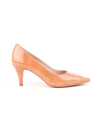 Square Feet dames cognac leren pump