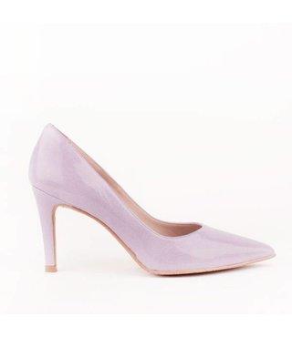 Square Feet dames lila leren pump