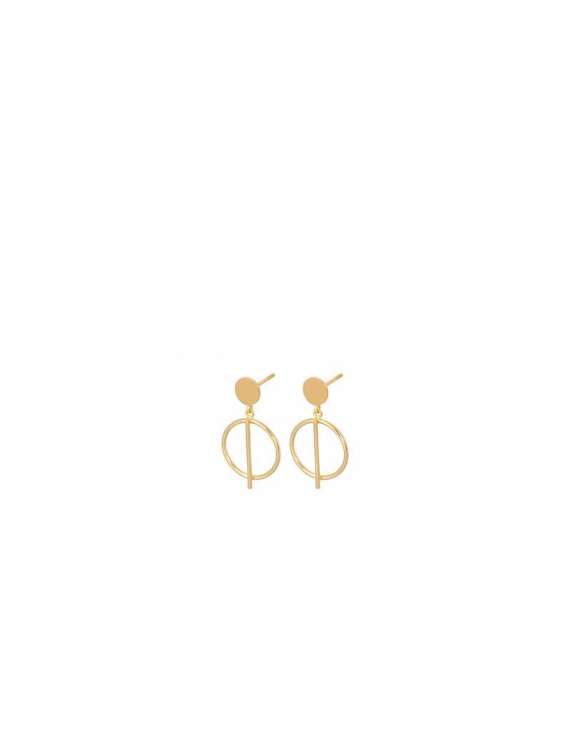 Pernille Corydon Pernille Corydon dames vergulde gouden oorbellen
