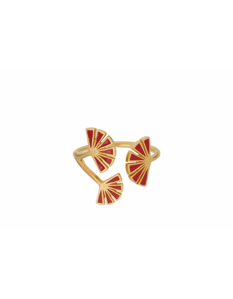 Pernille Corydon Flare Red Ring