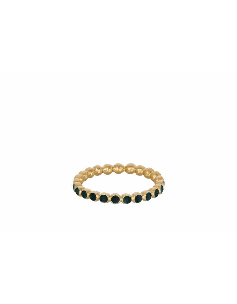 Pernille Corydon Pixel Green Ring