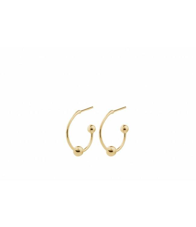 Pernille Corydon Pernille Corydon dames goud vergulde oorbellen