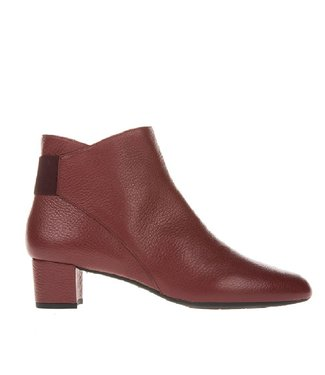 Square Feet Square Feet ladies bordo leather ankle boot with zipper