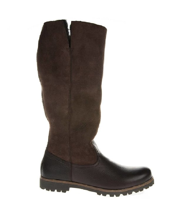 Blackstone Blackstone ladies brown leather boot with lambswool