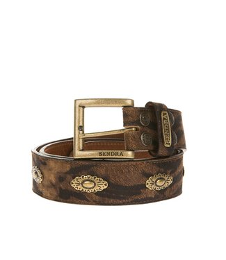 Sendra Sendra leather belt tigerprint