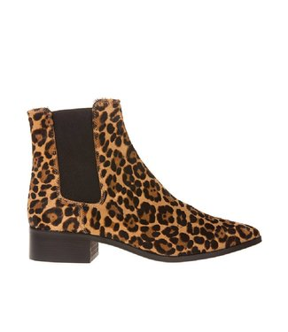 Pedro Miralles Pedro Miralles ladies chelsea boot of pony hair leopard print