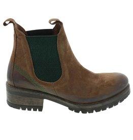 Lazamani Lazamani dames bruin nubuck leren chelsea boots