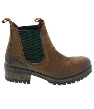 Lazamani dames chelsea boots bruin nubuck