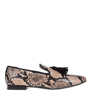 Pedro Miralles dames loafer slang print