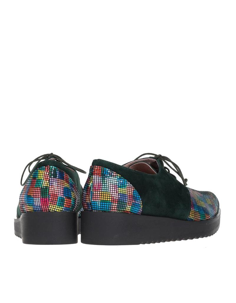 Square Feet Dames veterschoen met multi colour print