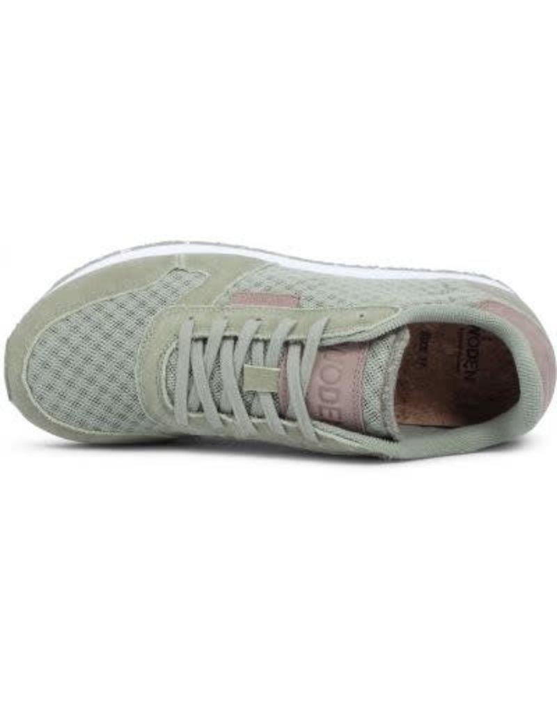 Woden Woden Ydun mesh dames sneaker groen