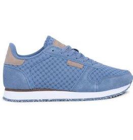 Woden Woden Ydun mesh dames sneaker blauw