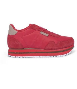 Woden Nora 11 plateau sneakers rood