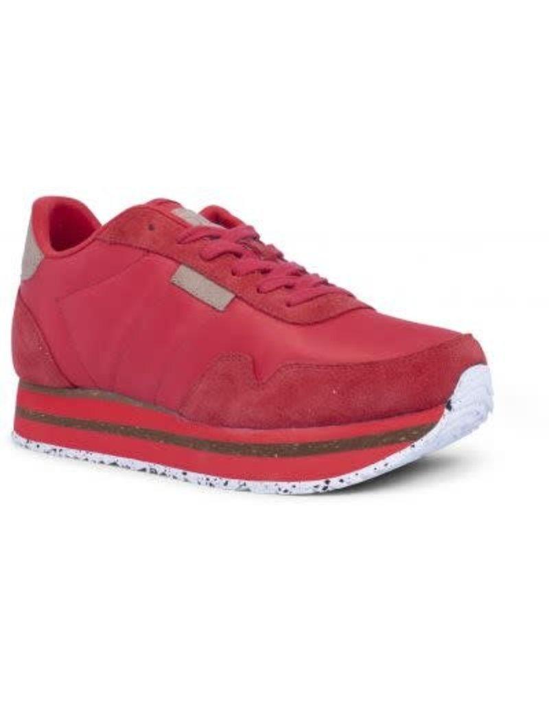 Woden Woden Nora 11 plateau sneakers rood