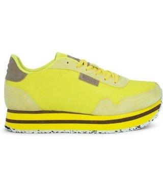 Woden Nora 11 plateau sneakers geel