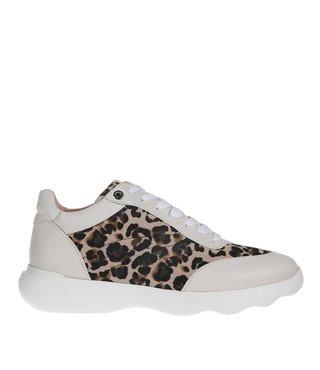 Unisa dames sneaker leer met luipaard print