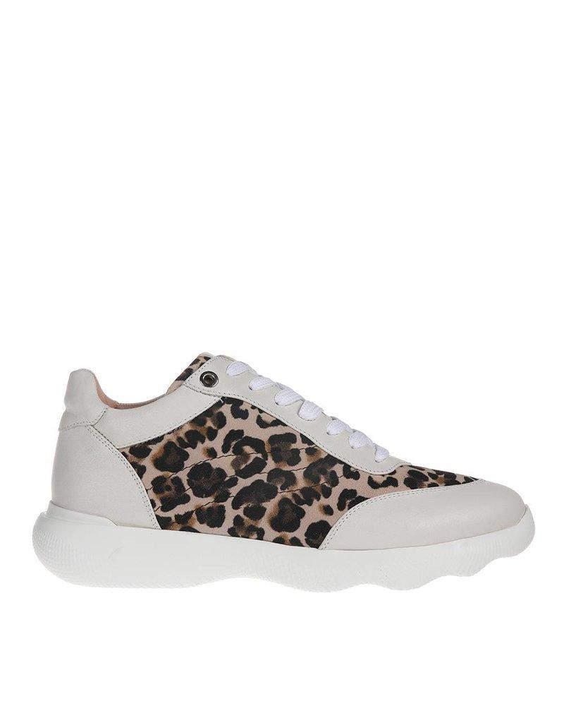 Unisa Unisa dames sneaker leer met luipaard print