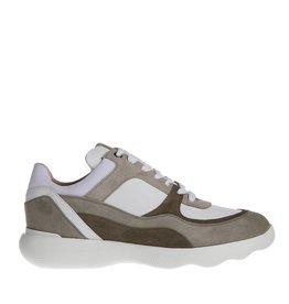 Unisa Unisa dames sneaker leer wit met taupe