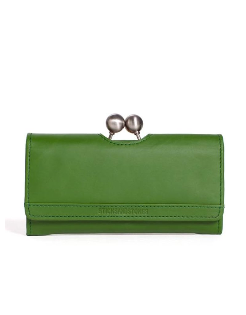 Sticks and Stones Sticks and Stones Berlin Wallet palm groen