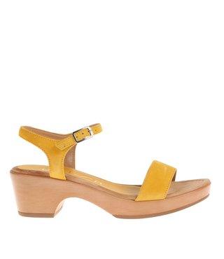 Unisa sandaal Irita geel suède