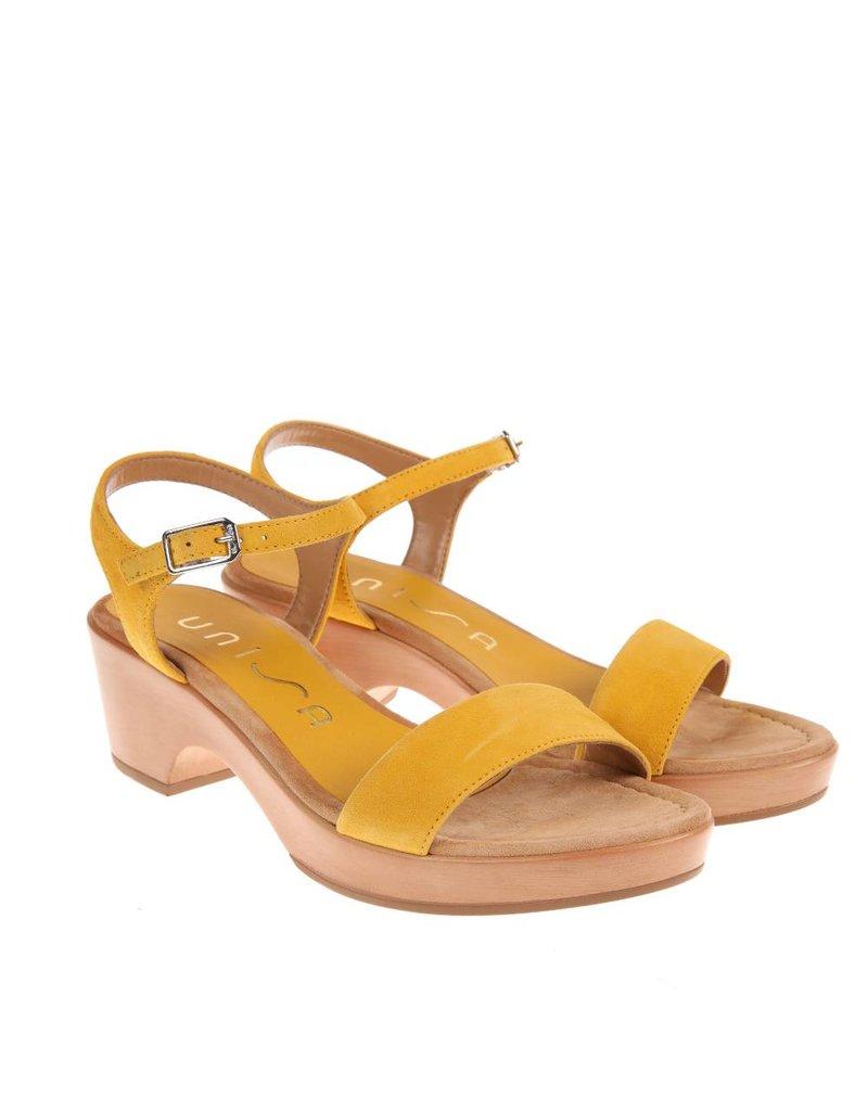 Unisa Unisa sandaal Irita geel suède