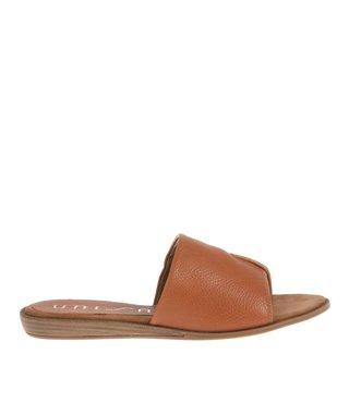 Unisa bruin leren  dames sandaal