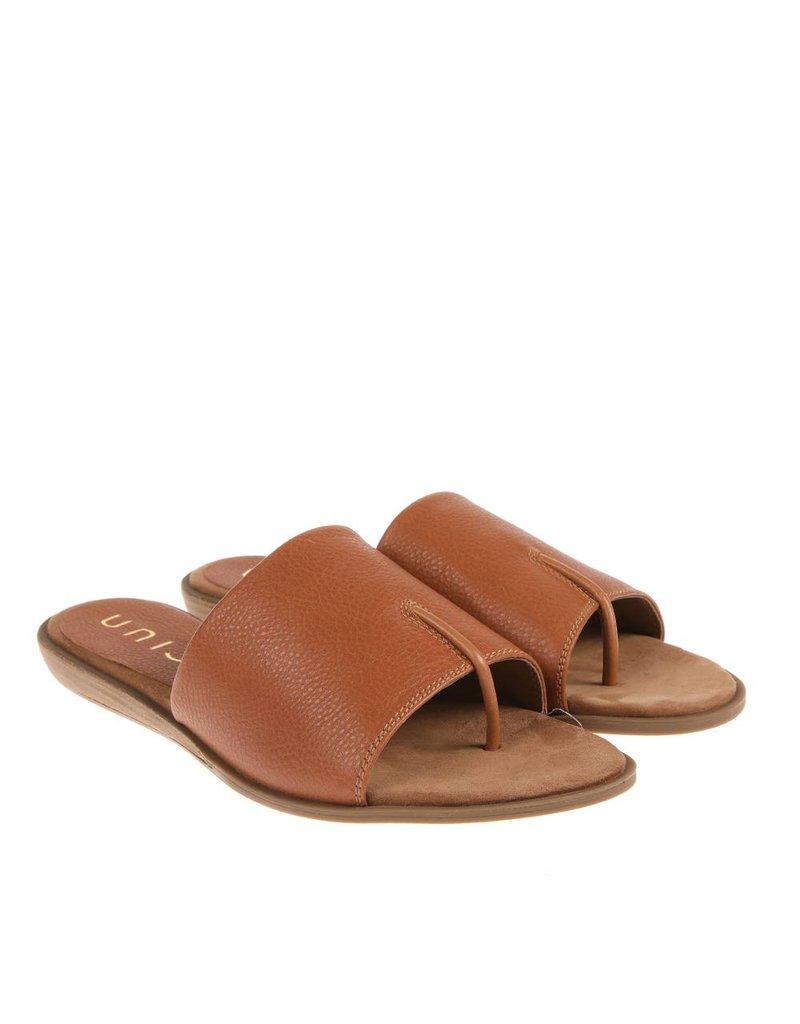Unisa Unisa bruin leren  dames sandaal