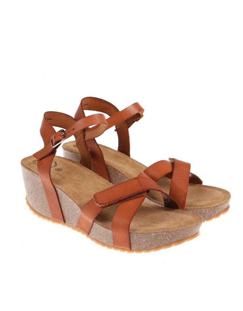 Ca Shott Ca Shott dames plateau sandaal bruin