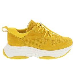 Lazamani Lazamani dames sneaker geel suède