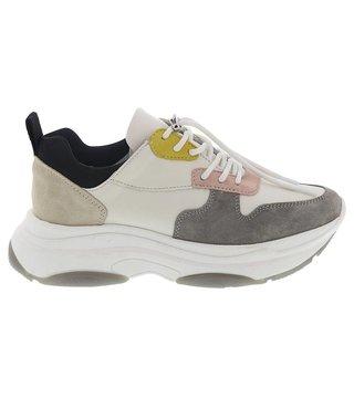 Lazamani dames sneaker wit multi