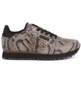 Woden Woden Ydun snake brown dames sneaker