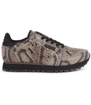 Woden Ydun snake brown dames sneaker