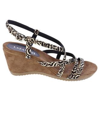 Lazamani Lazamani ladies leather sandal with zebra print