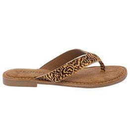 Lazamani Lazamani dames sandaal met tijger print
