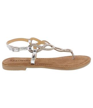Lazamani Lazamani ladies sandal with silver rhinestones