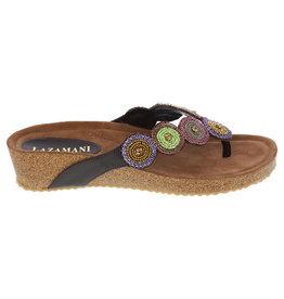 Lazamani Lazamani dames sandaal bruin met kraaltjes