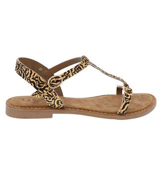 Lazamani dames sandaal met tijger print