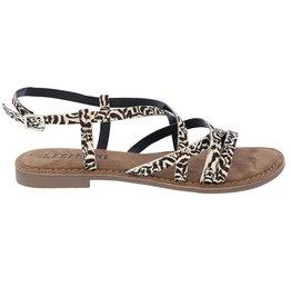 Lazamani Lazamani dames sandaal met zebra print