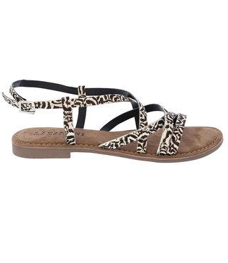 Lazamani dames sandaal met zebra print