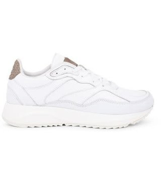 Woden Sophie bright white leather dames sneaker