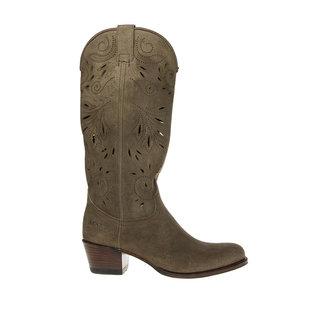 Sendra cowboy dameslaars perforaties taupe