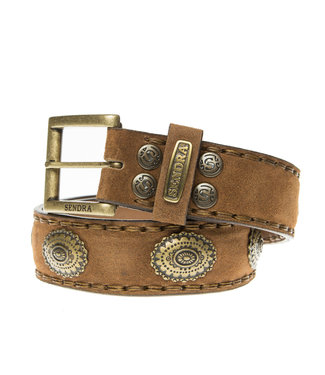 Sendra Sendra Belt 1112 brown suede