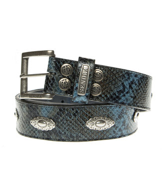 Sendra Sendra Belt leather snake print blue