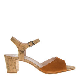 Square Feet Square Feet dames oranje suède elegante sandaal