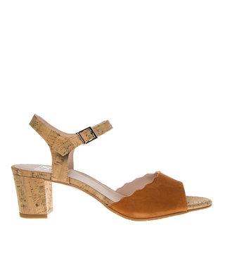 Square Feet dames oranje suède elegante sandaal
